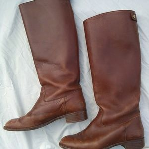 J. Crew Leather Riding Boots Brown